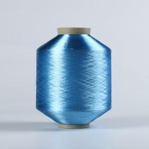 FDY polyester yran blue Raw bright 75D/36F DB028