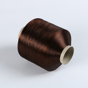FDY polyester yran Dark brown    TRB bright 75D/36F   DB052